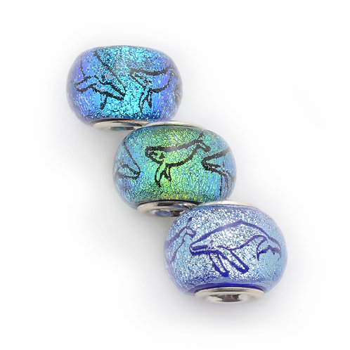 Glass Bead | Whale Family