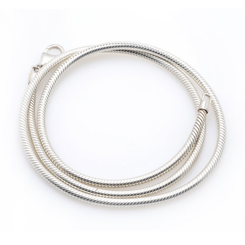 Silver Necklace with Lobster Clasp
