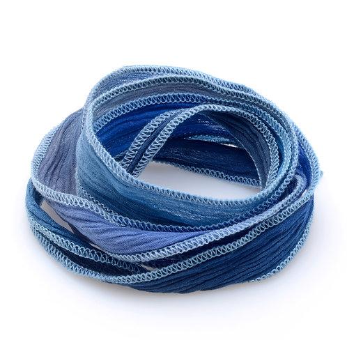 Silk wrap | Blue Jeans Fade