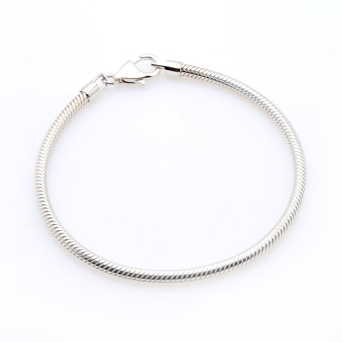 Silver Bracelet with Lobster Clasp
