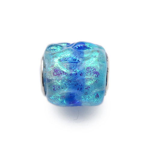 Glass Bead | Turquoise Ripples