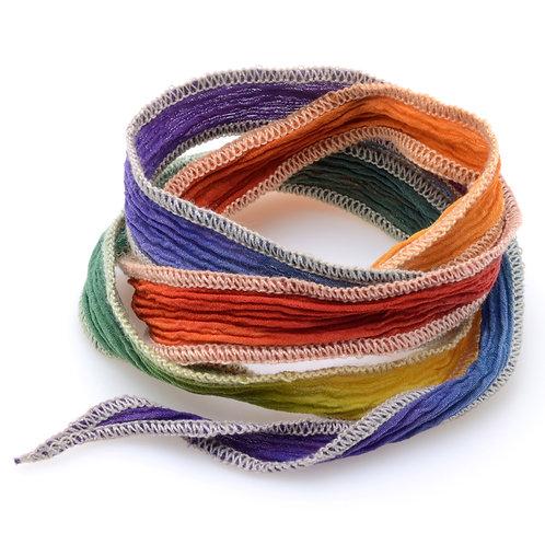 Silk wrap | Tropical Rainbow