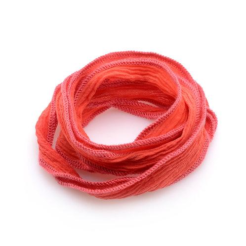 Silk wrap | Coral