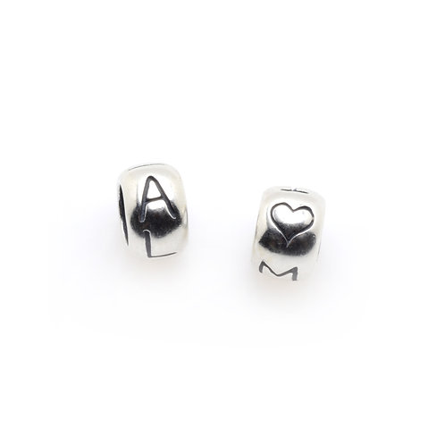 Silver Charm | Tiny Bead Pair
