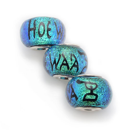 Glass Bead | Hoe Wa'a - Blue Green