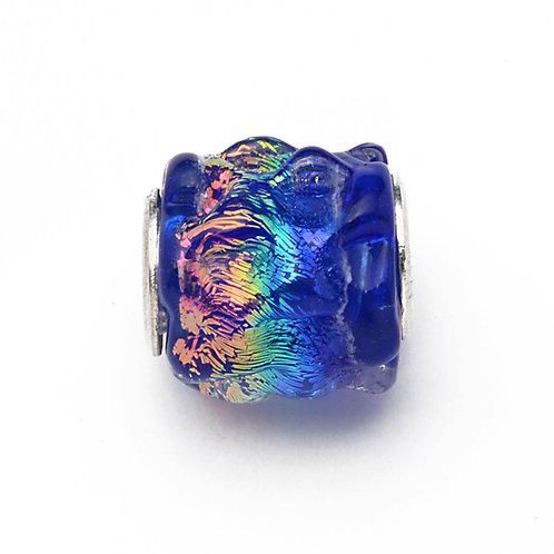 Glass Bead | Rainbow Ripple