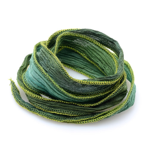 Silk wrap | Kelp Green