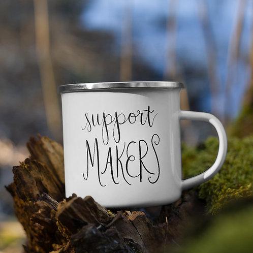 support makers - Enamel Mug