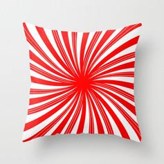 peppermint twist - candy cane mint Throw Pillow