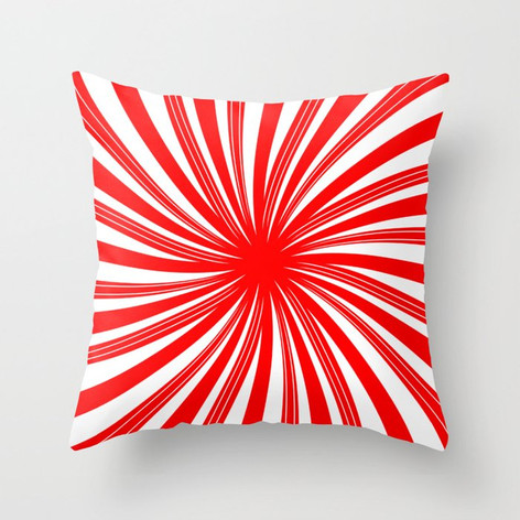 peppermint twist - candy cane mint Throw Pillow