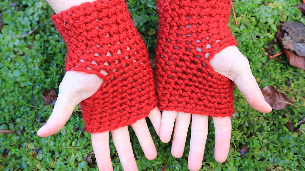 adult size fingerless mitts