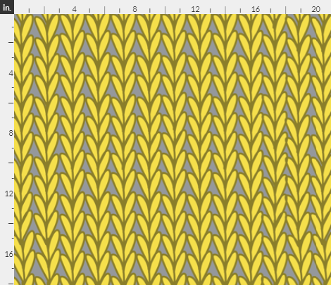 Knitted Stitches in Illuminating Yellow and Gray