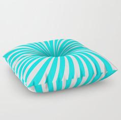 peppermint twist - aqua candy cane mint Floor Pillow