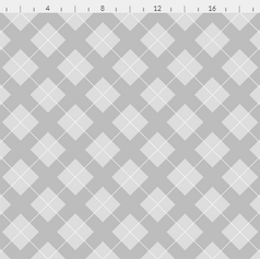 argyle in gray and white