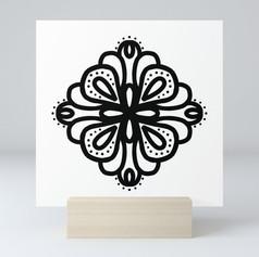 four corners Mini Art Print