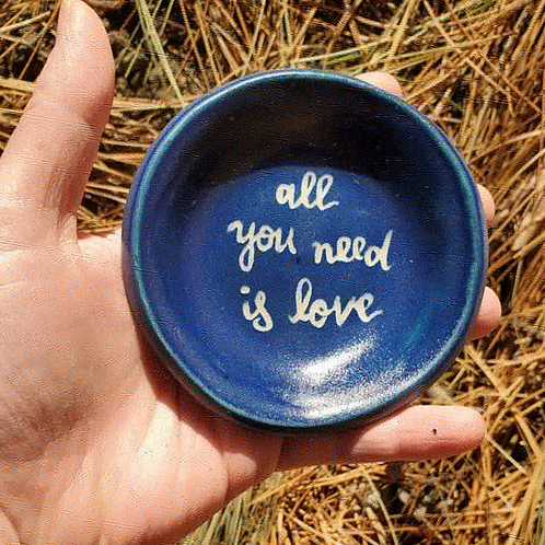 all you need is love - little blue plate