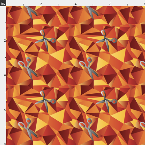 scissor mosaic triangles