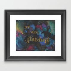 we are stardust Framed Art Print