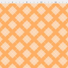 argyle in pastel light orange