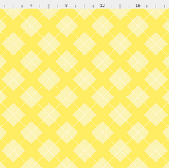 argyle in pastel yellow and white