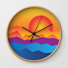 sunrise sunset wall clock