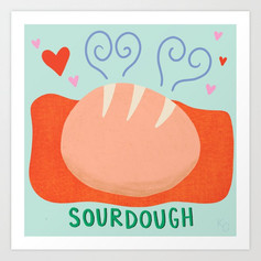 Sourdough Love Art Print