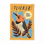 Good Luck Flicker Tea Towel
