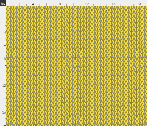 Knitted Stitches in Illuminating Yellow and Gray - half size