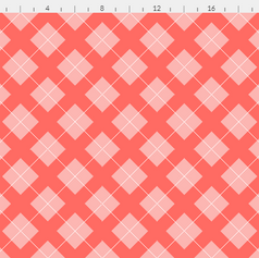 argyle in pastel pink and white