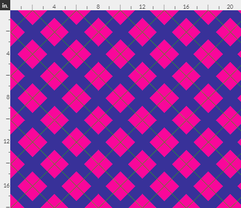 argyle in hot pink lime and purple