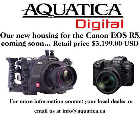 Aquatica's Housing for the new Canon EOS R5 is coming soon!