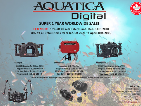 World Wide Aquatica 15% Sale has been Extended!