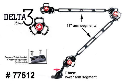 """Delta 3 Dual 11"""" Arm Set with Detachable Base"""