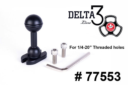 """Delta 3 1"""" Ball to Flat Plate"""
