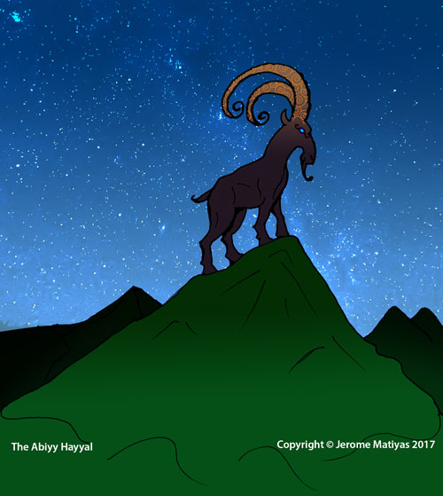 Hayyal (Walia Ibex) on mountain peak