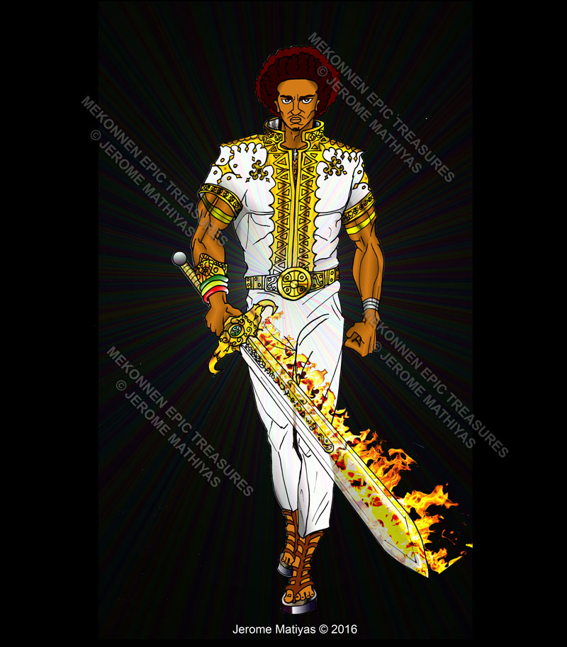 Mekonnen with the Flaming Sword
