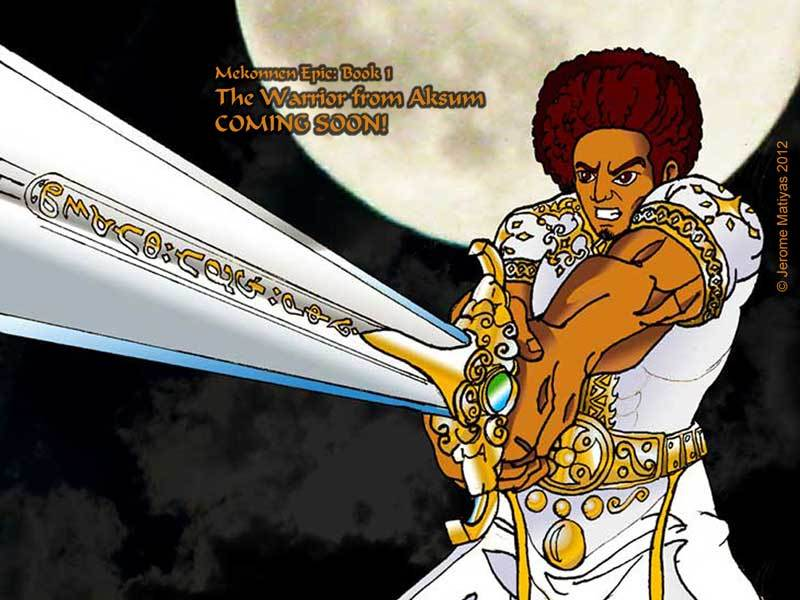 Mekonnen with Sword