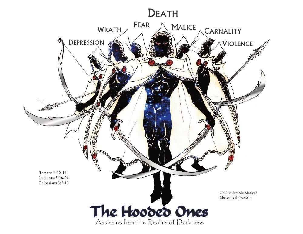 Hooded  Assassins: labels