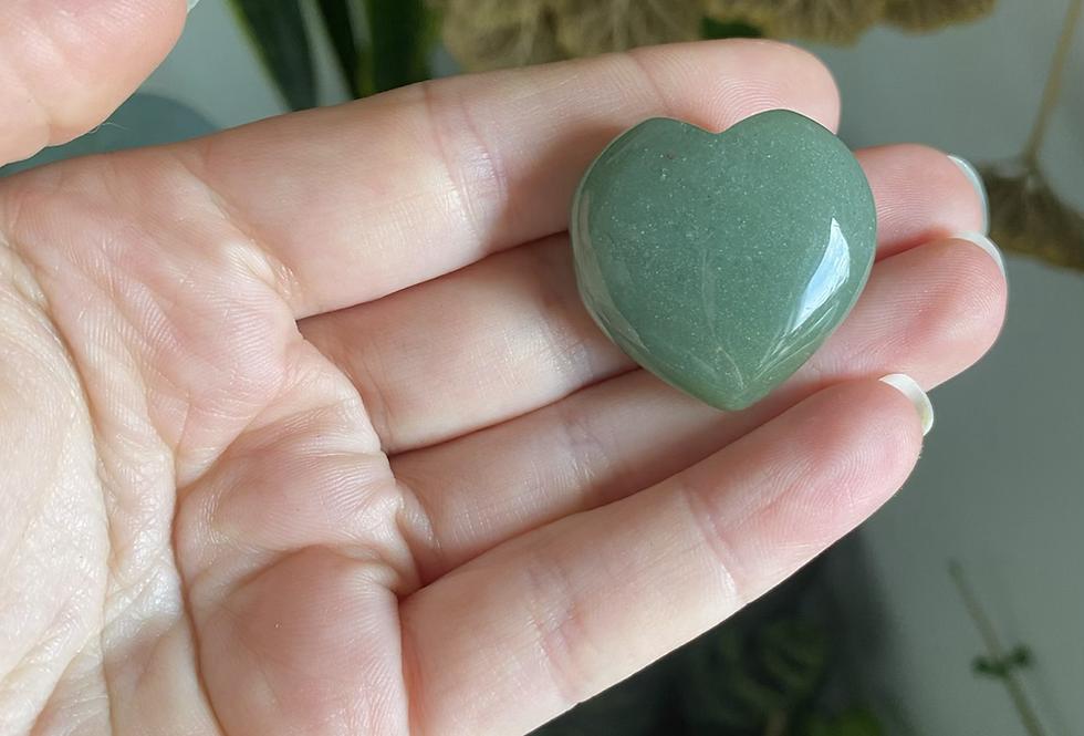 Green Adventurine Heart