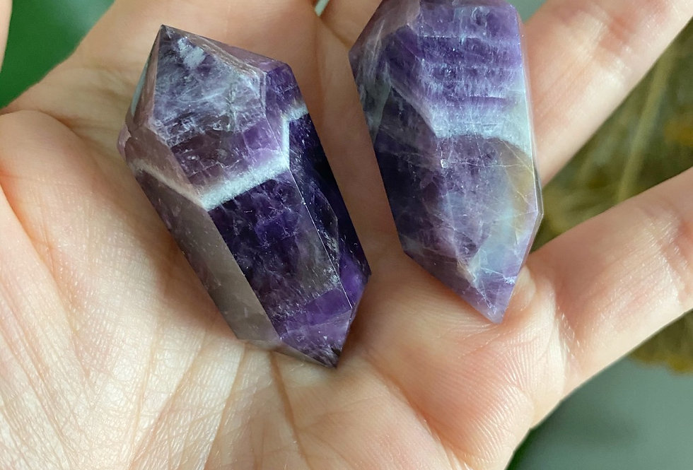 Double Terminated Dream Amethyst Point Sets