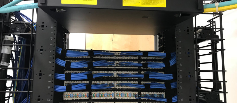 Data rack and wiring