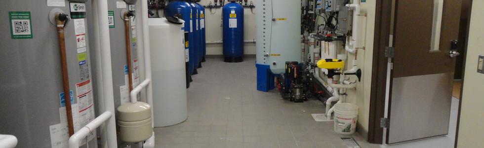Kidney dialysis water treatment room