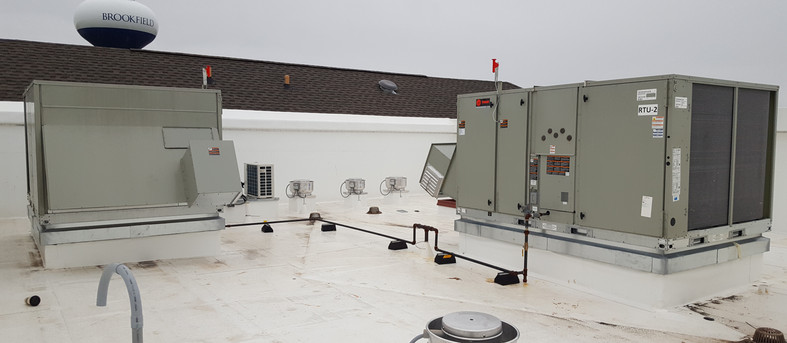 Rooftop equipment serving a multi-story Dialysis