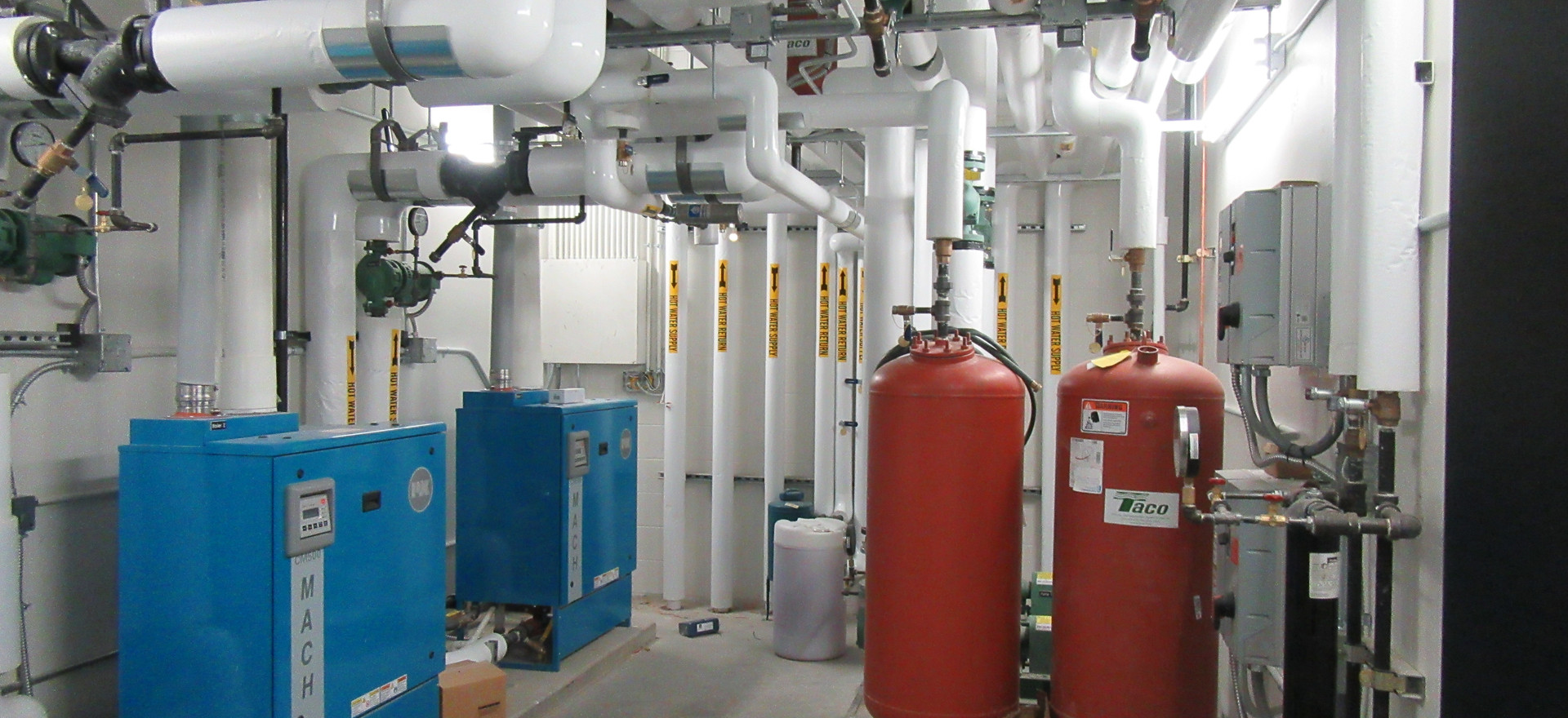 Boiler Room in an Auto Dealership