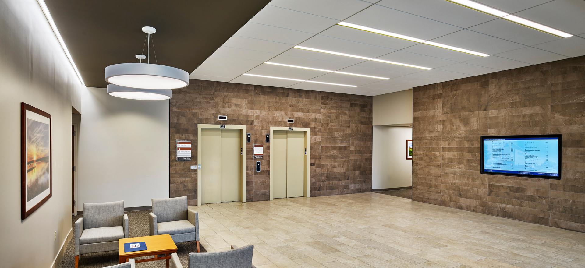 Corporate Lobby Lighting