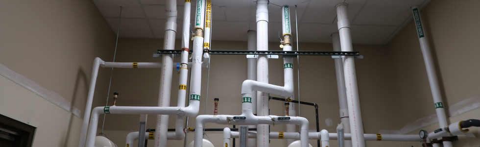 Water heater piping