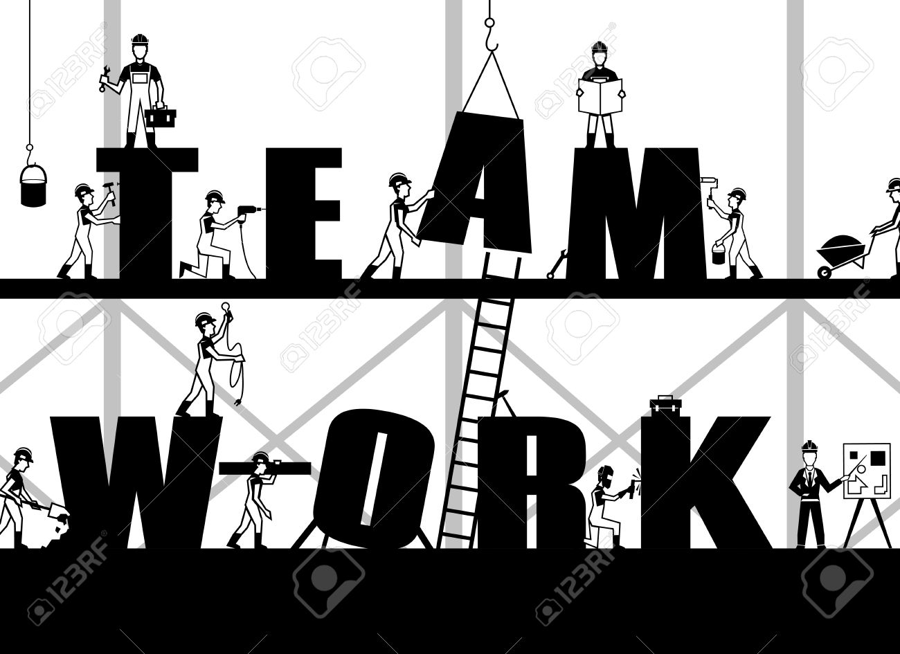 35434773-Teamwork-poster-with-construction-process-and-black-builder-people-silhouettes-vector-illus