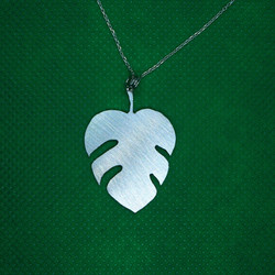 Palm leaf pendant
