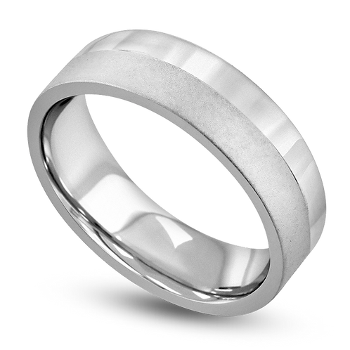 Flat & Low Dome Band with Bright & Satin Finish