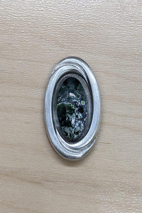 Interlocking Ovals- Black Pearl Variscite